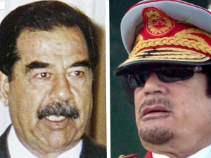 Saddam and Gaddafi