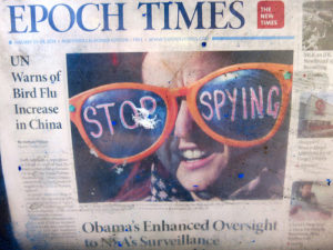 An Epoch Times front page featuring Luna Lovegood. Whose fictional father runs a fictional newspaper, which ironically is still more truthful than the Age.