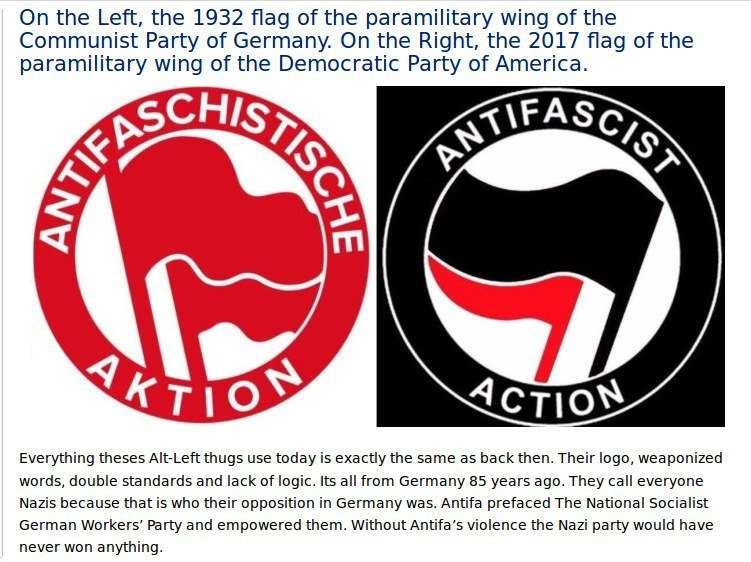 Antifa communist flags
