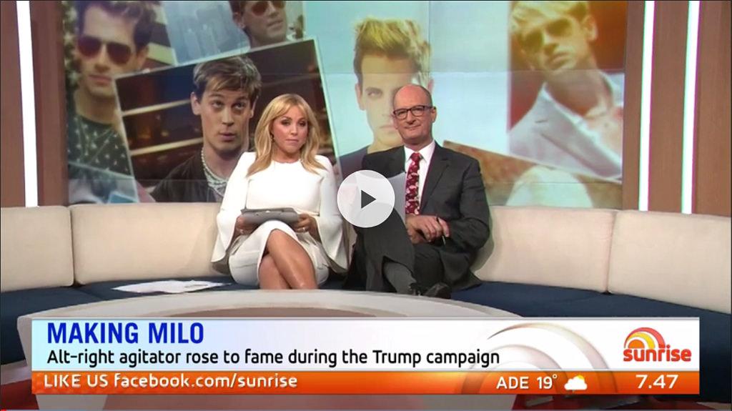 Milo eats Sunrise presenters