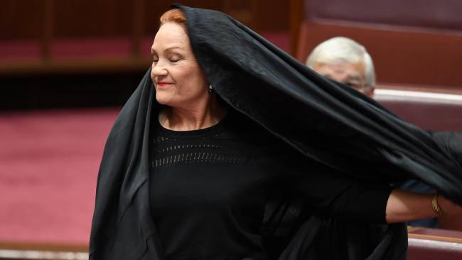 Pauline Hanson burqa