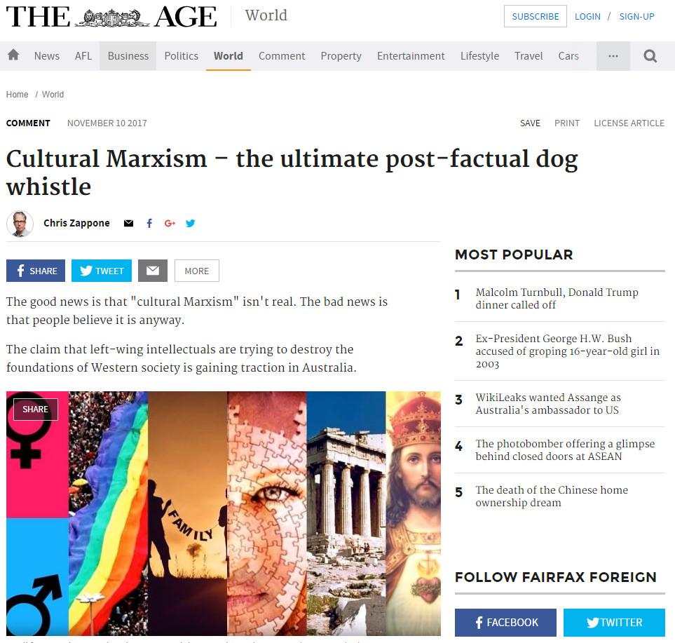 Chris Zappone cultural Marxist