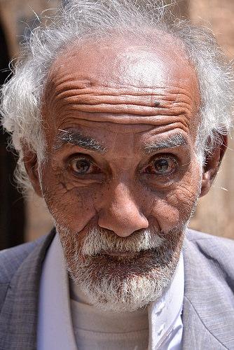 Bald old man photo
