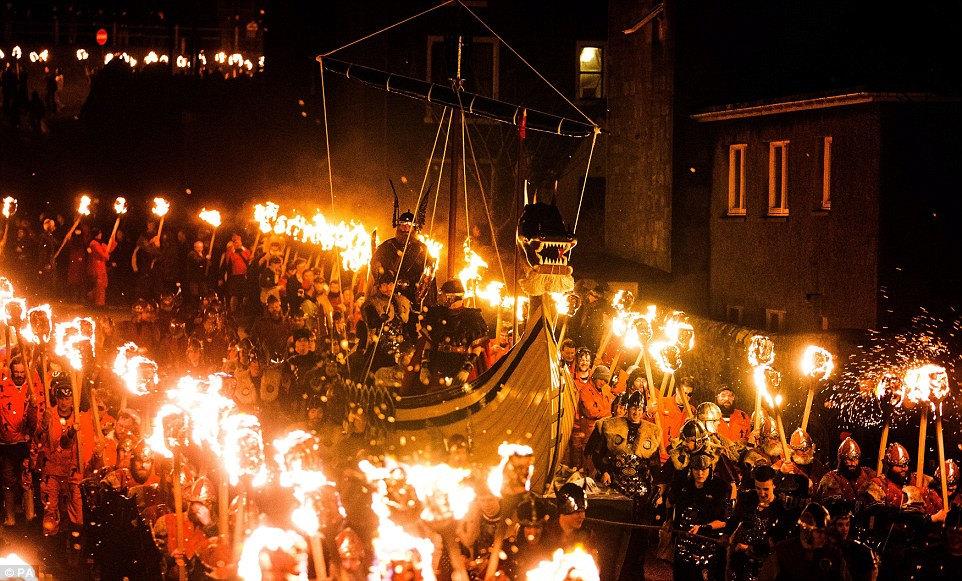 Norse festival on Shetland Islands