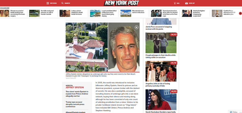 Jeffery Epstein NYP