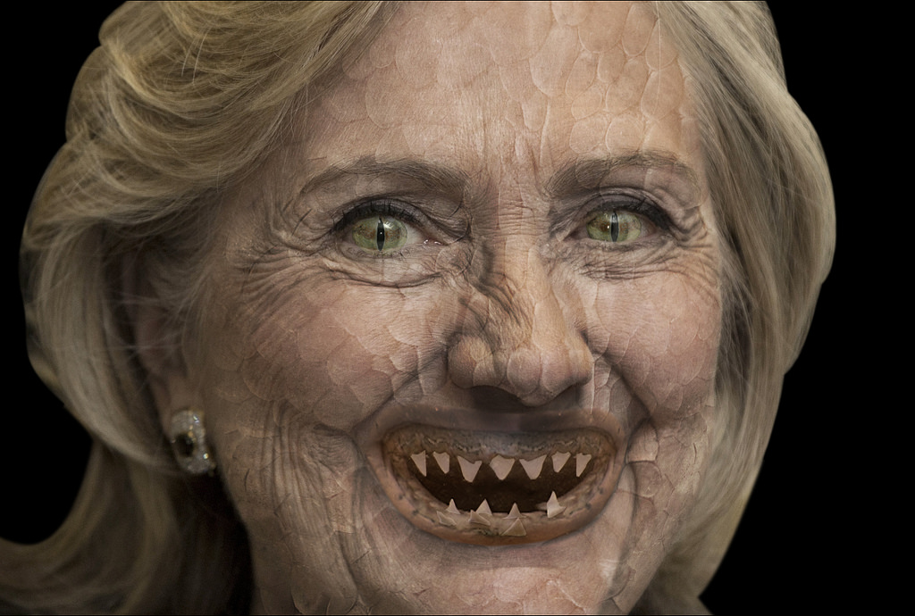 Hillary without makeup