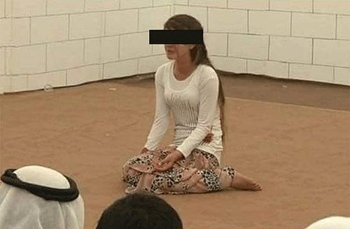 Slave girl at market